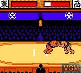 In-game screen of the game Aah! Harimanada on Sega Game Gear