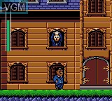 In-game screen of the game Addams Family, The on Sega Game Gear