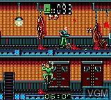 In-game screen of the game Alien 3 on Sega Game Gear