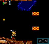 In-game screen of the game Asterix and the Great Rescue on Sega Game Gear
