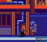 In-game screen of the game Batman Returns on Sega Game Gear