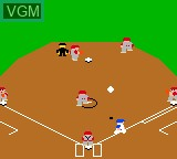 In-game screen of the game Batter Up on Sega Game Gear