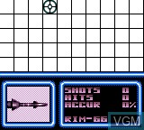 In-game screen of the game Battleship on Sega Game Gear