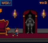 In-game screen of the game Bonkers Wax Up! on Sega Game Gear