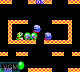 In-game screen of the game Bubble Bobble on Sega Game Gear