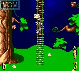 In-game screen of the game Bugs Bunny in Double Trouble on Sega Game Gear