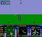 In-game screen of the game F-15 Strike Eagle on Sega Game Gear