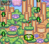 In-game screen of the game Fantasy Zone Gear on Sega Game Gear