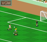 In-game screen of the game FIFA International Soccer on Sega Game Gear