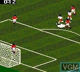 In-game screen of the game FIFA Soccer 96 on Sega Game Gear