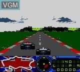 In-game screen of the game F-1 on Sega Game Gear