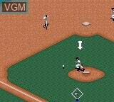 In-game screen of the game Frank Thomas Big Hurt Baseball on Sega Game Gear