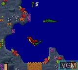In-game screen of the game Ariel - The Little Mermaid on Sega Game Gear