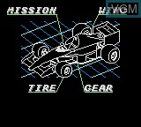 In-game screen of the game Ayrton Senna's Super Monaco GP II on Sega Game Gear