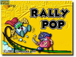 Title screen of the game Rally Pop on GamePark Holdings Game Park 32