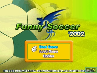 Title screen of the game Funny Soccer 2002 on GamePark Holdings Game Park 32