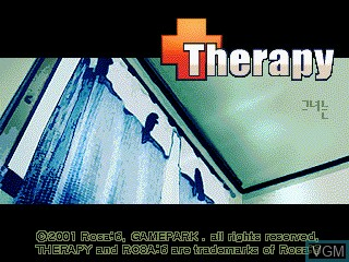 Title screen of the game Therapy on GamePark Holdings Game Park 32