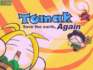 Title screen of the game Tomak - Save the Earth, Again on GamePark Holdings Game Park 32