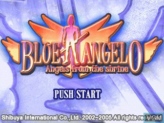 Title screen of the game Blue Angelo - Angels from the Shrine on GamePark Holdings Game Park 32