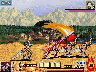 Menu screen of the game Dungeon and Guarder on GamePark Holdings Game Park 32