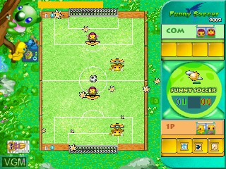 In-game screen of the game Funny Soccer 2002 on GamePark Holdings Game Park 32