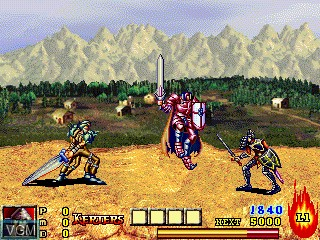 In-game screen of the game Dungeon and Guarder on GamePark Holdings Game Park 32
