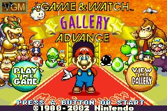 Title screen of the game Game & Watch Gallery Advance on Nintendo GameBoy Advance