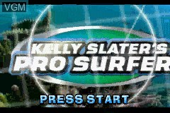 Title screen of the game Kelly Slater's Pro Surfer on Nintendo GameBoy Advance