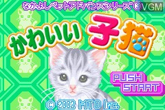 Title screen of the game Nakayoshi Pet Advance Series 3 - Kawaii Koneko on Nintendo GameBoy Advance