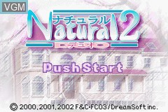 Title screen of the game Natural 2 - Duo on Nintendo GameBoy Advance