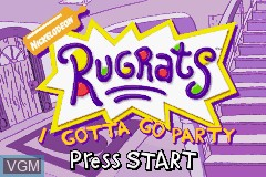 Title screen of the game Rugrats - I Gotta Go Party on Nintendo GameBoy Advance