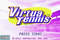 Title screen of the game Virtua Tennis on Nintendo GameBoy Advance