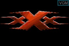 Title screen of the game xXx on Nintendo GameBoy Advance