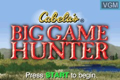 Title screen of the game Cabela's Big Game Hunter on Nintendo GameBoy Advance