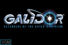 Title screen of the game Galidor - Defenders of the Outer Dimension on Nintendo GameBoy Advance