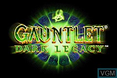 Title screen of the game Gauntlet - Dark Legacy on Nintendo GameBoy Advance