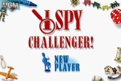 Title screen of the game I Spy Challenger! on Nintendo GameBoy Advance