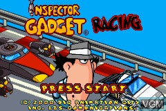 Title screen of the game Inspector Gadget Racing on Nintendo GameBoy Advance