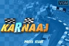 Title screen of the game Karnaaj Rally on Nintendo GameBoy Advance