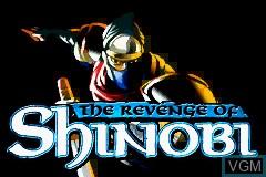 Title screen of the game Revenge of Shinobi, The on Nintendo GameBoy Advance