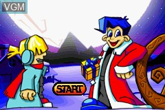 Title screen of the game Santa Claus Jr. Advance on Nintendo GameBoy Advance