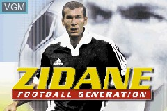 Title screen of the game Zidane Football Generation 2002 on Nintendo GameBoy Advance