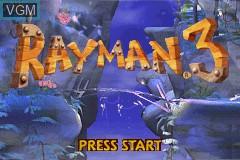 Title screen of the game Rayman 3 - Hoodlum Havoc on Nintendo GameBoy Advance