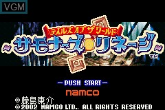 Title screen of the game Tales of the World - Summoner's Lineage on Nintendo GameBoy Advance