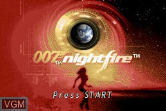 Title screen of the game 007 - NightFire on Nintendo GameBoy Advance