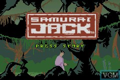 Title screen of the game Samurai Jack - The Amulet of Time on Nintendo GameBoy Advance
