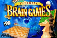 Title screen of the game Ultimate Brain Games on Nintendo GameBoy Advance