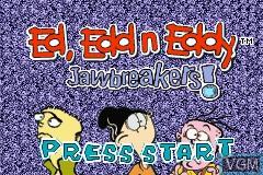 Title screen of the game Ed, Edd n Eddy - Jawbreakers! on Nintendo GameBoy Advance
