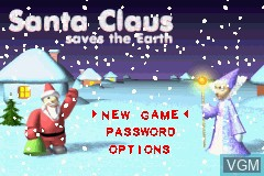 Title screen of the game Santa Claus Saves the Earth on Nintendo GameBoy Advance