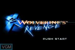 Title screen of the game X2 - Wolverine's Revenge on Nintendo GameBoy Advance